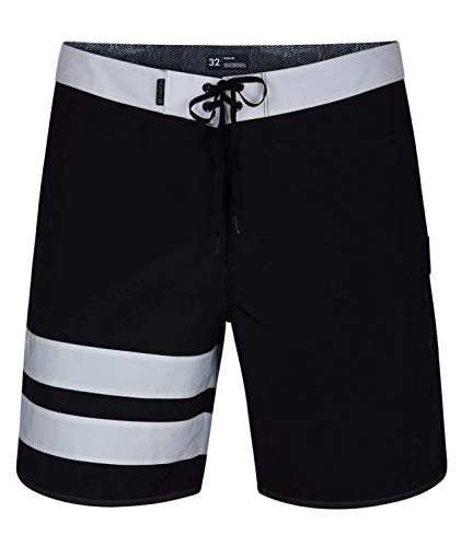 Hurley Herren Shorts M Phantom Block Party SOLID 18', Black, 33, AQ9986