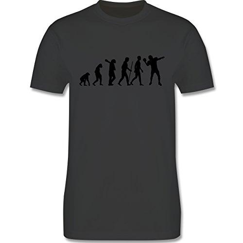 Evolution - Football Evolution - Herren Premium T-Shirt Dunkelgrau