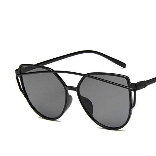 Taiyangcheng Cat Eye Frame Sonnenbrille Frauen Reflektierende Gold Gelb Schwarz Objektiv Spiegel Sonnenbrille Weiblich,Grau