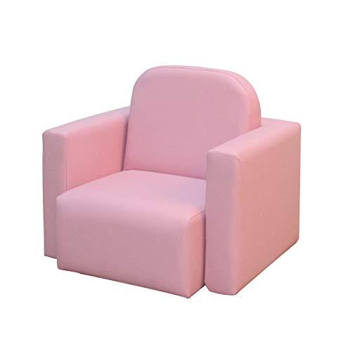 HOMCOM 2-in-1-Kindersofa Tisch und Stuhl Mini-Sessel für Kinder von 3–9 Jahren Rosa