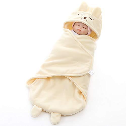 Azuo neonatal cartoon swaddle sacco a pelo super soft autunno e inverno fanciullo sacco a pelo tenendo coperta,beige