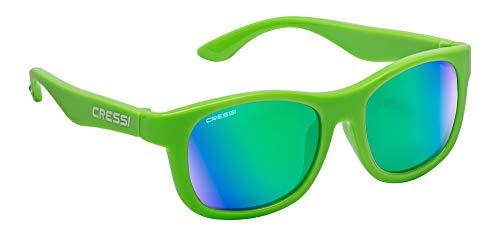 Cressi Unisex- Babys Teddy Sunglasses Polarisiert Kinder Sonnenbrille, Spiegelglas Grün, 0/2 Jahre