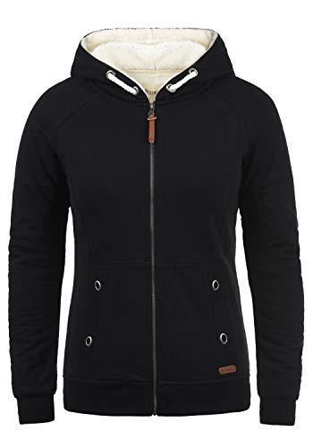 DESIRES Mandy Pile Damen Sweatshirt Pullover Pulli Mit Teddy-Futter, Größe:S, Farbe:Black Pil (P9000)
