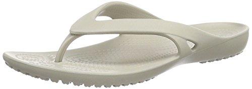 crocs Damen Kadee II Flip Women Zehentrenner Grau (Platinum)