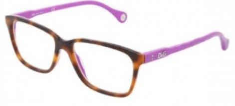 D&g By Dolce & Gabbana Für Frau 1238 Tortoise On Violet Kunststoffgestell Brillen, 52mm