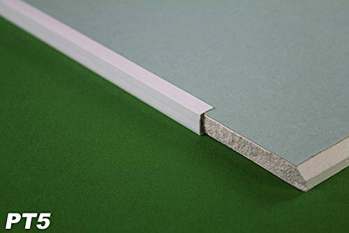 30 Meter   Kantenprofil für Gipskarton Platten Rigips   PVC   12,5mm   Lemal   PT5