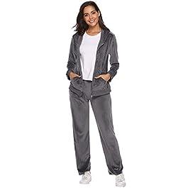 2 pezzi 2 pezzi con cappuccio e maniche lunghe Tuta sportiva da donna Vertvie per il tempo libero