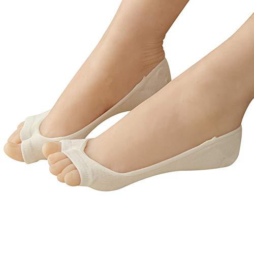 XuxMim Fisch Mund Boot Socken Zehe zwei Finger unsichtbare rutschfeste weibliche ()