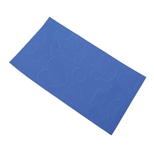 Baoblaze kit di toppe per riparazione di giubbotto antipioggia in nylon non rivestito con tasca esterna - blu, 22x12.5cm