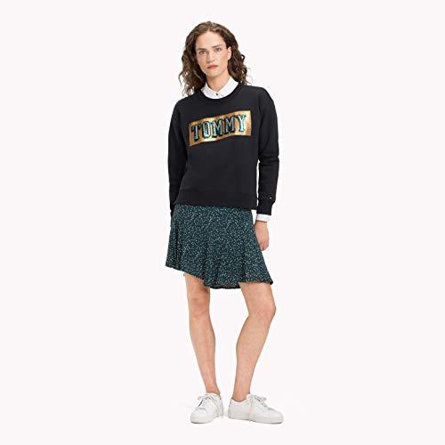 Tommy Hilfiger Damen Langarmshirt Hanna C-NK Sweatshirt LS, Schwarz (Black Beauty 094), Medium (Herstellergröße: M) (Sweatshirt Hilfiger Tommy Frauen)