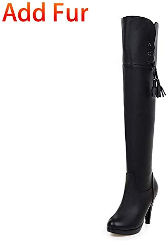 Ai Ya-xuezi Tailles Tailles Ya-xuezi Plus Marque 34-43 Super High Heels Bottines Chaussures Femme Plus Solide Plate-Forme Chaussures... 077542