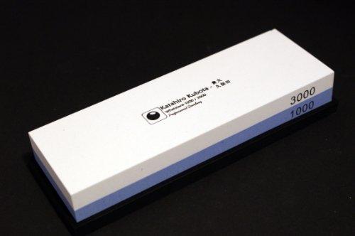 Kubota-messer (KATAHIRO KUBOTA Wasser-Schleifstein Körnung 1000 / 3000 für grob und Feinschliff)