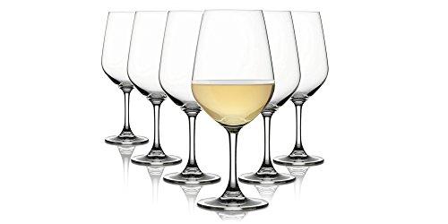 Pasabahce Chiara/Weiß Weingläser/Spülmaschinenfest/6 -Teiliges Set/Geeignet für bis zu 6 Personen/320 ml