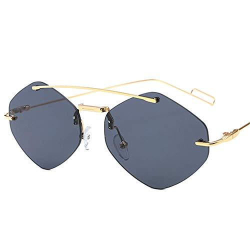 Lisa旗舰店 Sonnenbrillen Europa und die Vereinigten Staaten Fashion Double Beam Frameless Marine Film Sonnenbrillen Persönlichkeit Männer und Frauen Außenhandel Sonnenbrillen,2