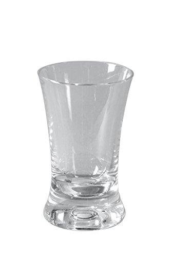 Glas Geschirr Unzerbrechliches (BO CAMP 4er Set Schnaps Gläser Camping Kurze Shots Kunststoff Glas Pinnchen 45ml)