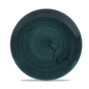 Churchill Stonecast -Coupe Plate Teller- Durchmesser: Ø21,7cm, Farbe wählbar (Rustic Teal) Teal Coupe