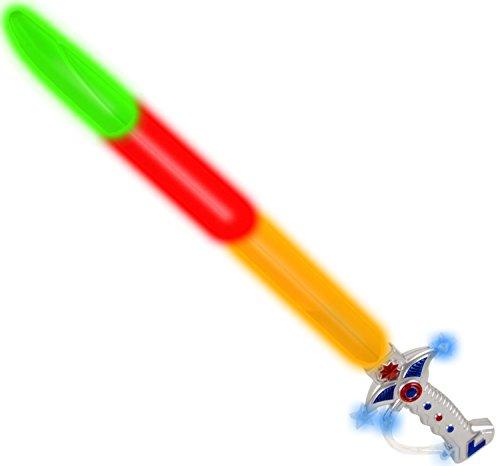 60cm Space Wars Fighter Elektronisches LED-Schwert Lichtschwert Säbel Piraten-Kostüm Piratenschwert mit Licht Effekten (Licht Säbel Schwerter)