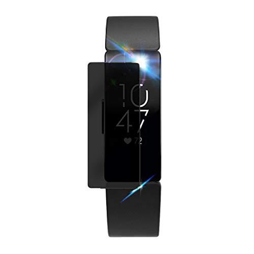 MMLC 3 STÜCK Für Fitbit inspirieren Privacy Film Tempered PET Full Screen Protector Displayschutzfolie (Black) (Screen Pet-privacy)