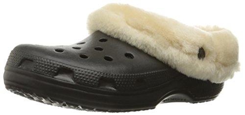 Crocs Schuhe - Clássico Luxe Mamute Entupir Preto Preto / Preto