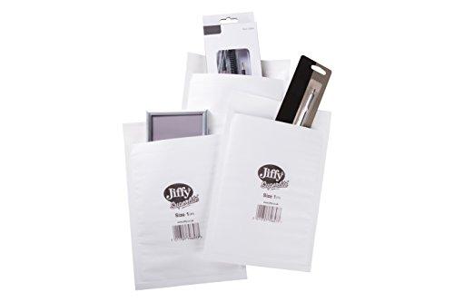 Jiffy D1 SuperliteVersandtaschen, 170x 245mm, mit Schaumstoff gefüttert, weiß
