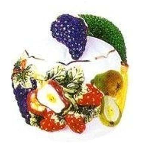 MIXED FRUIT Scouring/Brillo Pad Holder & Scour Pad ~NEW~ by KMC/KK-MixedFruit