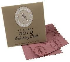 Gold Polishing Cloth - Keep your Bling looking BLING! -7cm x 14cm
