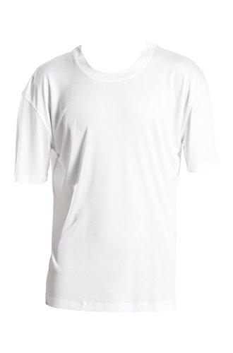 SUPERIOR NATURALS, T-Shirt, Basic, Kurzarm, 100% Seide, Interlock, Weiss, XL - Kurzarm Herren Seide Shirts