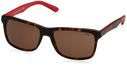Polo Ralph Lauren Herren Sonnenbrille 0Ph4098 560173, Grau (Brown), 57