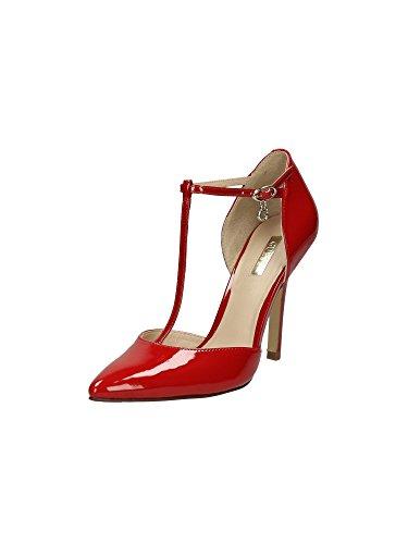GUESS (Teren) Sandalo Donna Punta Pelle Vernice Beige FLTE31PAF08 Rosso