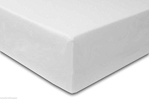 "Hf4you Buckingham Wooden Bed Frame - 4FT Small Double - White - 6"" Memory Foam Mattress"