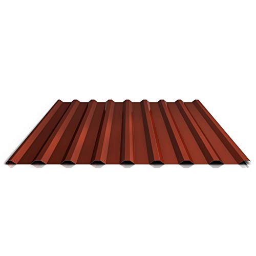 Trapezblech | Profilblech | Dachblech | Profil PS20/1100TRA | Material Stahl | Stärke 0,63 mm | Beschichtung 25 µm | Farbe Rotbraun