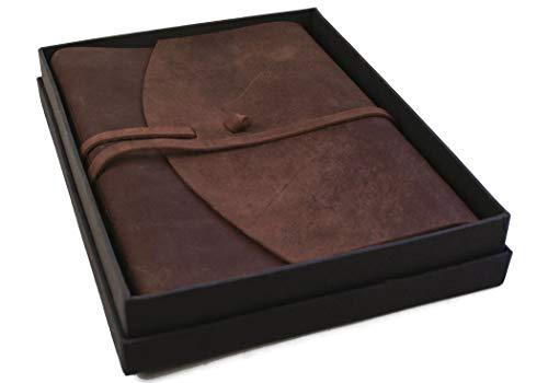 Life Arts Enya handgemachtes rustico in pelle A4grande Journal, pagine in 100% cotone (22cm x 30cm)