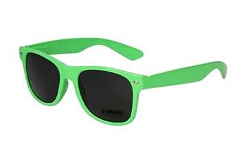 Nerd Sonnenbrille Wayfarer Style Retro Vintage Brille Nerdbrille hellgrün