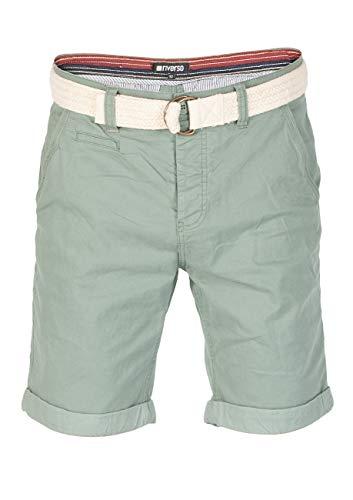 riverso Herren Chino Shorts Henry - hellblau - dunkelblau - rot - grün, Größe:W 40, Farbe:Mineral Green (12300) (Männer Chinos Rote Shorts)