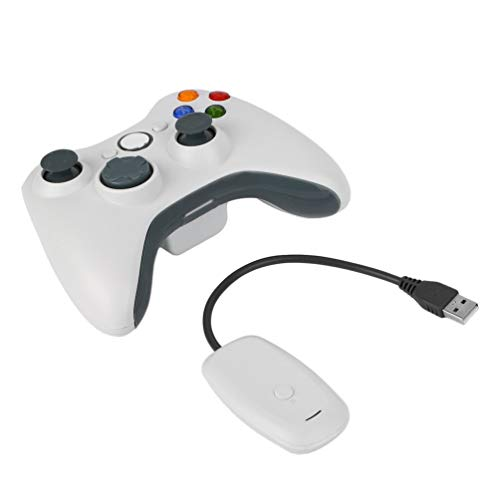 CHOULI Game Joystick N-3 Gamepad für Xbox 360 Wireless Controller Gaming Controller Weiß (Controller Range Radio Long)