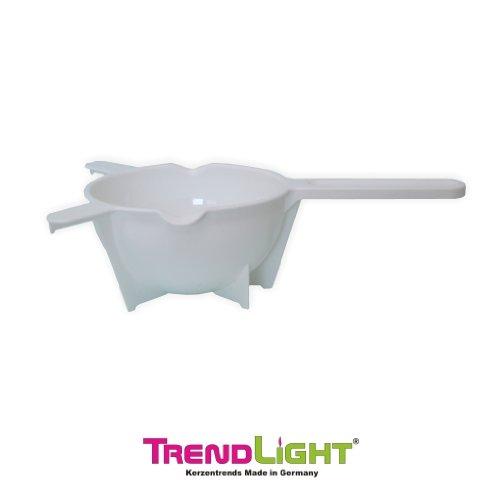 TrendLight 861046 Wachs Schmelzkelle 25 x 14 cm ideal zum Kerzen, Seife, Schokolade einschmelzen oder gießen, weiß