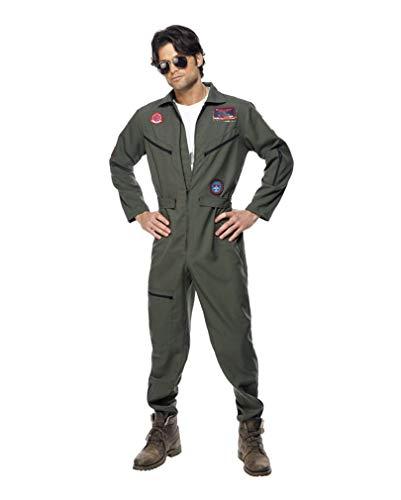 80er Jahre Kostüm Gun Top - Top Gun Overall M