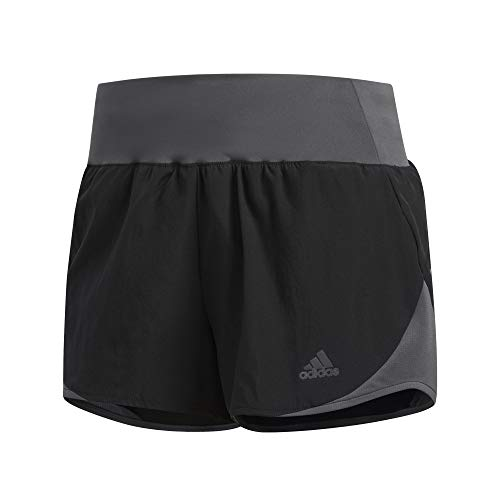 adidas Run It Short Women Shorts (1/4), Damen XS Schwarz/Grau (Black/Grey six) - Womens Damen Schwarze Kurze