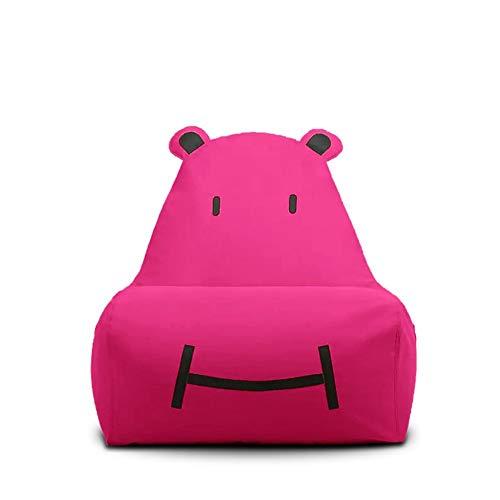 Sitzsack Sofa Kinder Tragen Faul Sofa Stuhl Hohe Rückenlehne Wohnzimmer Pavillon Geeignet Für Spielzeug Lagerung Licht Sofa lI (Color : Rose) -