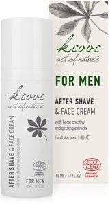 KIVVI - After Shave & Face Cream for Men Leichte Pflege für Männerhaut Wirkt antibakteriell & beruhigend