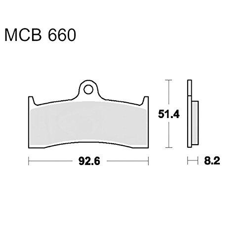 TRW Lucas Bremsklotz CRQ f. Buell M2 1200 Cyclone EB1 carbon MCB660CRQ 332293727