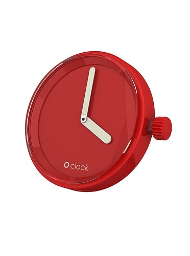 Fullspot O clock Cassa Rosso  MEC.RT - Orologio da polso Unisex