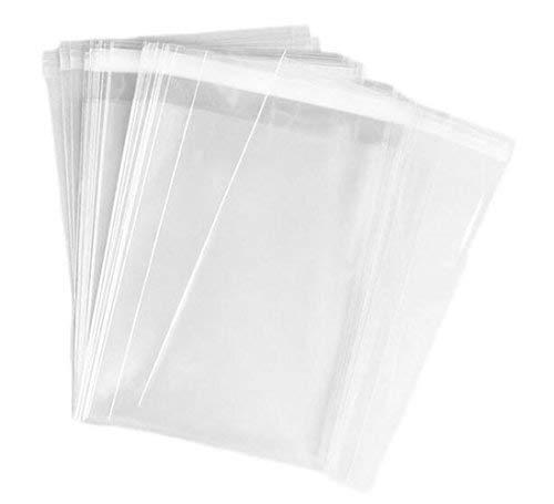ericotry 100 Stücke Klar Wiederverschließbaren Cello/Cellophan Taschen Behandeln Tasche Verpackung Taschen mit Klebstoffverschluss Gut für Bäckerei Kerze Seife Süßigkeiten