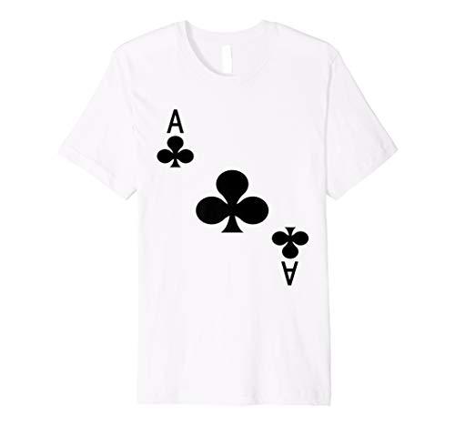 ACE OF CLUBS T-Shirt Spielkarten Tee | Halloween-Kostüm ()