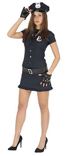 Foxxeo Sexy Polizistin Kostüm für Damen zu Karneval Fasching Polizei Motto-Party Größe XS