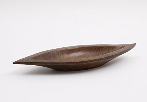 Leewadee Bandeja Decorativa, 43x15x4 cm, Madera de Mango, marrón
