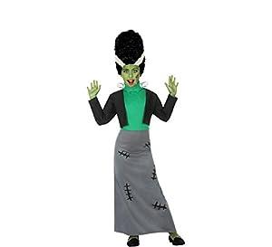 Atosa-55646 Atosa-55646-Disfraz Monstruo para niña Infantil-Talla, Color verde, 5 a 6 años (55646