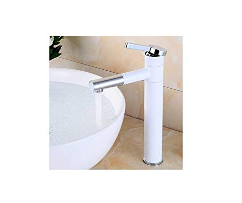 Rubinetti per lavabo rubinetti anticato rubinetto in ottone vernice bianca rubinetto per cucina monocomando foro classico ponte montaggio miscelatore rubinetto dell'acqua rubinetti del bagno