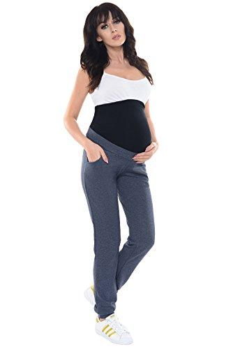Purpless Maternity Bequeme Schwangerschaft unter und uber Bump Hose 1321 Navy Melange