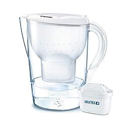 BRITA Wasserfilter Marella XL weiß inkl. 1 MAXTRA+ Filterkartusche - Großer BRITA Filter zur Reduzierung von Kalk, Chlor & geschmacksstörenden Stoffen im Wasser